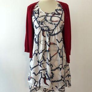 THEME Nautical Silky Dress (M)